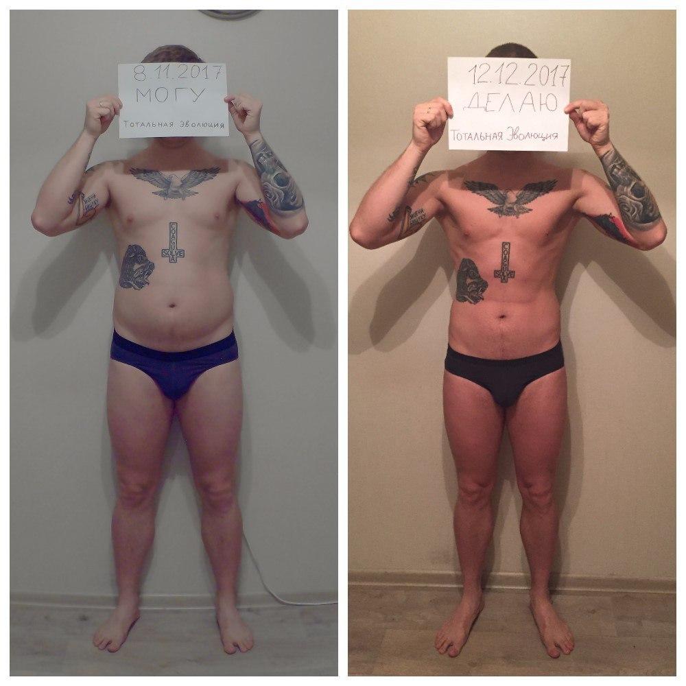 До и после набор массы девушки