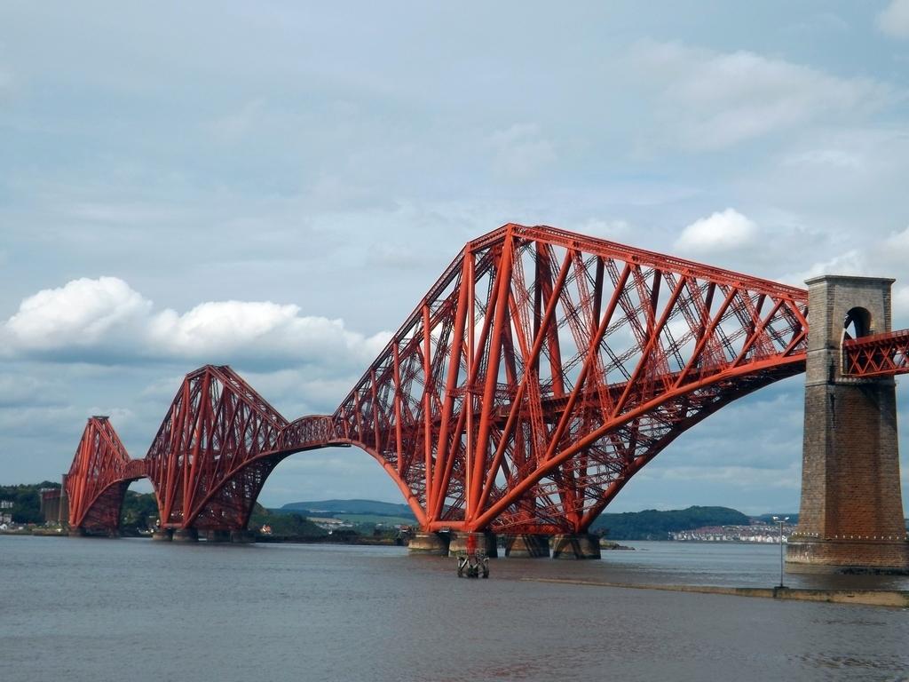 Обои scotland, поезд, forth bridge, вагоны. Разное foto 10