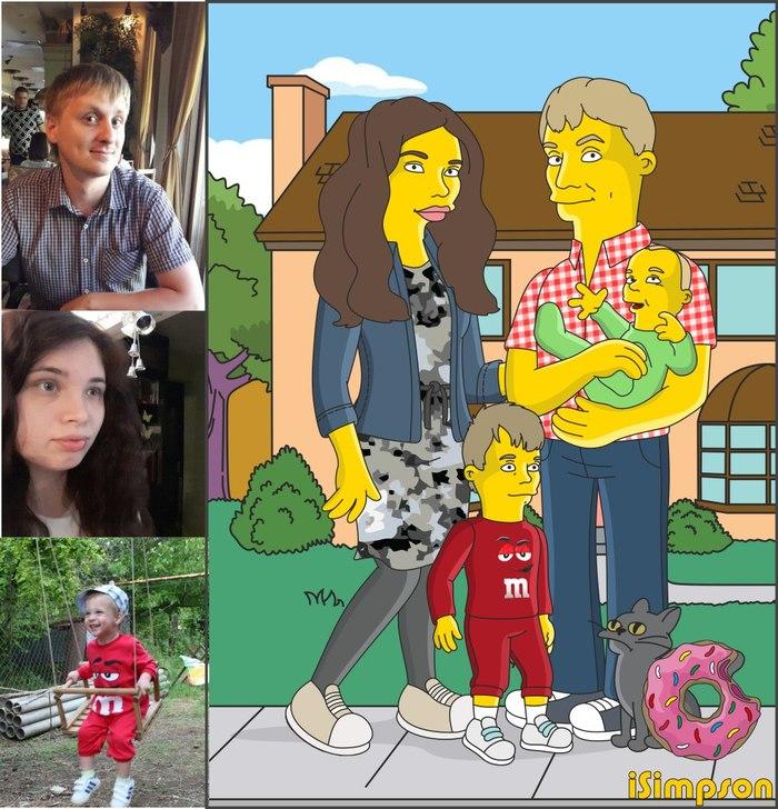 Подборка портретов в стиле The Simpsons Симпсоны, Портрет, Длиннопост