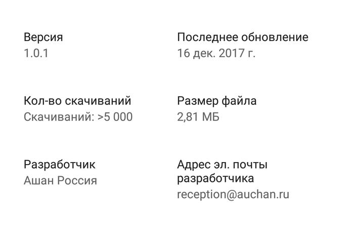 Фейковое приложение Ашан. Обман, Мошенничество, Google Play, Ргк-Продакшн, Ашан, Длиннопост