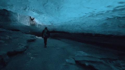 Ледяная пещера.
