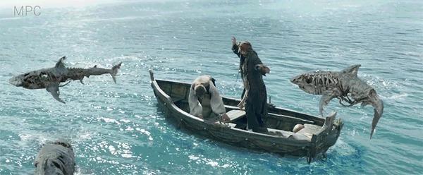 """Процесс создания сцены с акулами в """"Пиратах Карибского моря"""""""