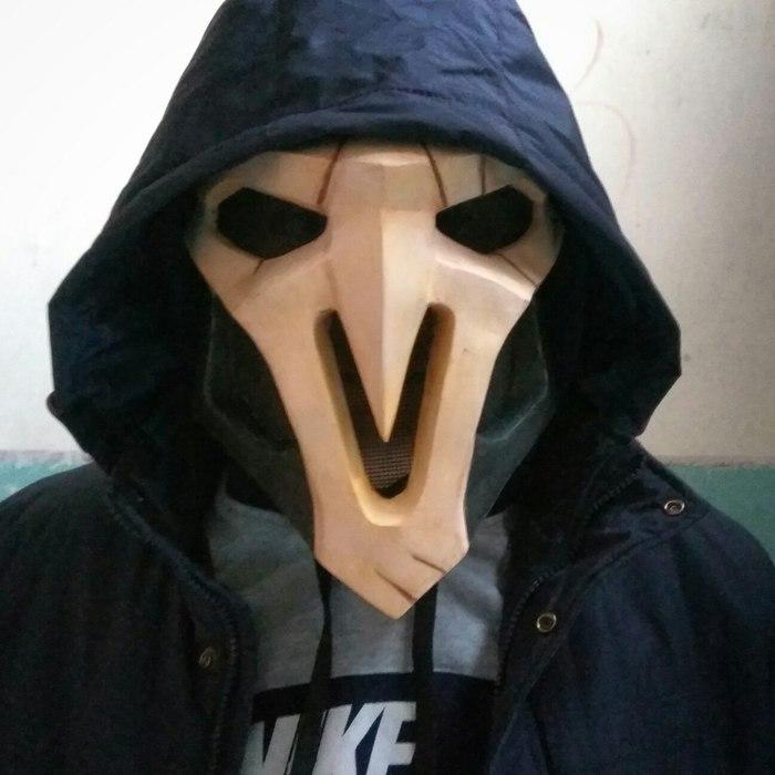 Маска Жнеца из игры Overwatch Pepakura, Papercraft, Ручная работа, Косплей, Ripper overwatch mask, Длиннопост