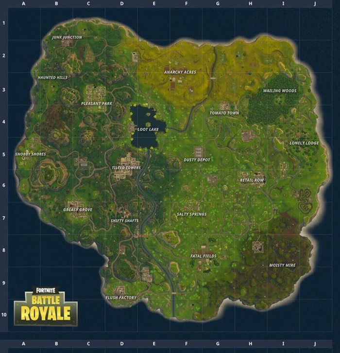 Week 7 Challenges Soccer Pitches Locations and Pleasant Park Treasure Map Season 4 Fortnite Week 7 Challenges in the Battle Pass for Fortnite Battle