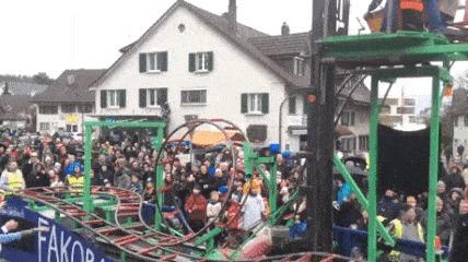 Мини американские горки в Цюрихе