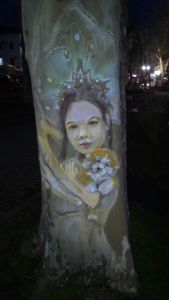 Уличное творчество Творчество, Роспись по дереву, Искусство, Длиннопост