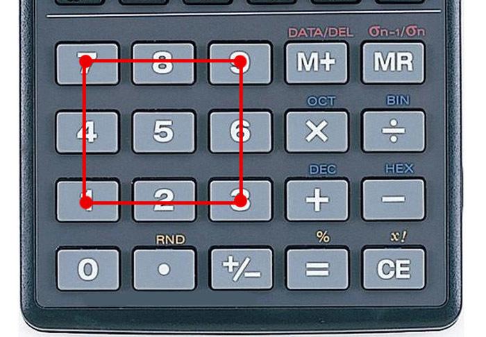 Любопытные закономерности в кнопках калькулятора Калькулятор, Цифры, Математика, Закономерность, Длиннопост