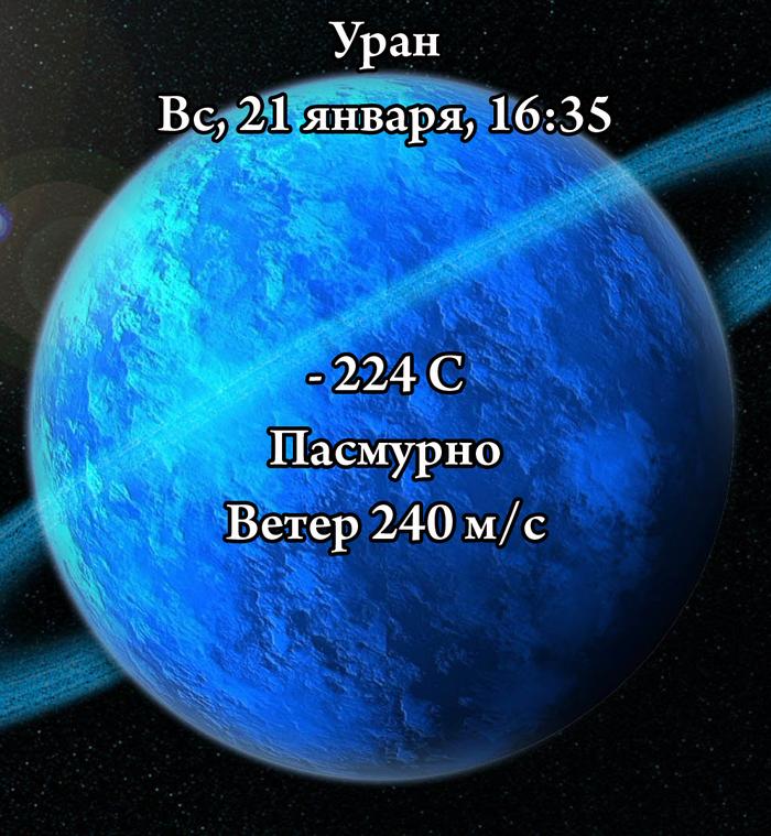 Ребят, так где вы говорите у вас там холодно? Планеты и звезды, Космос, Холодно, Уран, ФЕЙК
