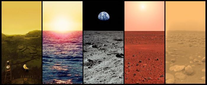 Горизонты - Венера, Земля, Луна, Марс, Титан