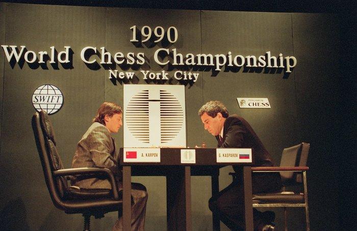 Карпов против Каспарова. 1990 г. Шахматы, Каспаров, Карпов, СССР VS россия