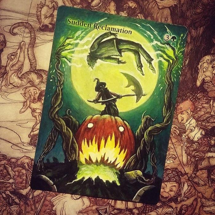 MTG Alter-Art: Эльвира Шакирова Magic: The Gathering, Арт, Длиннопост