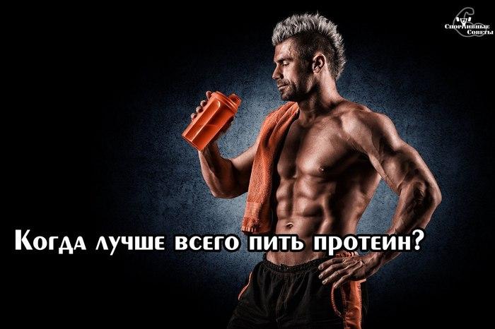 Когда лучше всего пить протеин? Спорт, Тренер, Спортивные советы, Мышцы, Протеины, Белок, Здоровье, Физкультура, Длиннопост