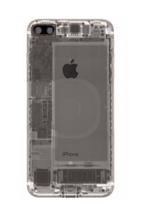 Наглядное фото, где у айфона 8 QI приемник Iphone 8, Quite Interesting, Рентген, Тег, Apple