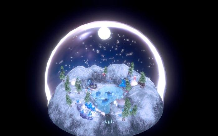 "3Д сцена: ""Fairy-tale Winter World"" Blender, Level, Scene, Зима, Cristmas, Fairy-Tale, Сцена, Длиннопост"