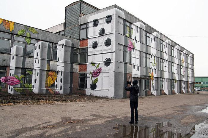 Промышленный стрит-арт Стрит-Арт, Фотография, Заброшенный завод, Длиннопост