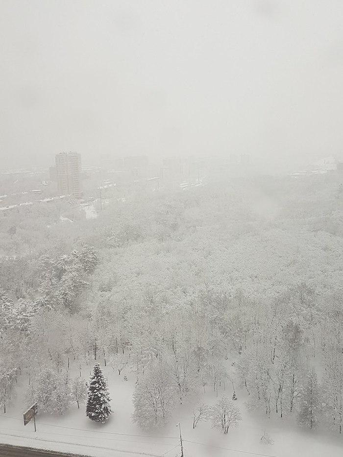 А снег идёт... Снегопад, Москва, Красота природы, Длиннопост