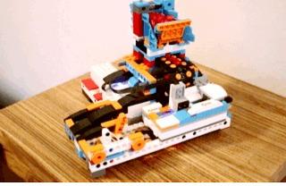 Катапульта для карамелек Lego, Lego boost, Робототехника, Робот, Lego Mindstorms, Гифка