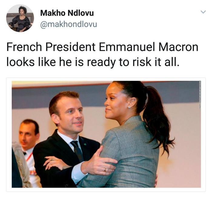 Рианна и какой-то фанат из Франции