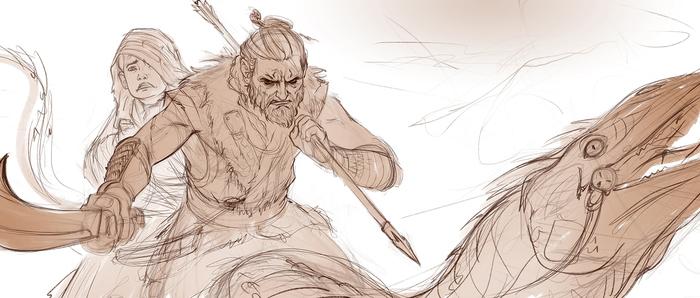"""Мой проект 2015г """"Devotion"""" + аниматик боя воина с демоном. Georgeredreev, Арт, Фэнтези, Animatic, Воин, Телохранитель, Принц, Бой, Видео, Длиннопост"""