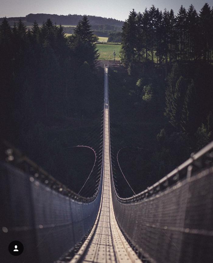 Где то в Германии. Атмосферный мост. Красота, Мост, Осень, Огни, Длиннопост