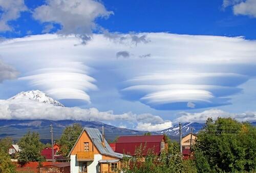 Дальний Восток.Лентикулярные облака.