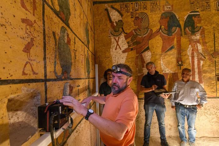 Гробница Тутанхамона: новый этап сканирования Древний Египет, Тутанхамон, Храм, Фараон, Мумия, Египтология, История, Археология, Длиннопост