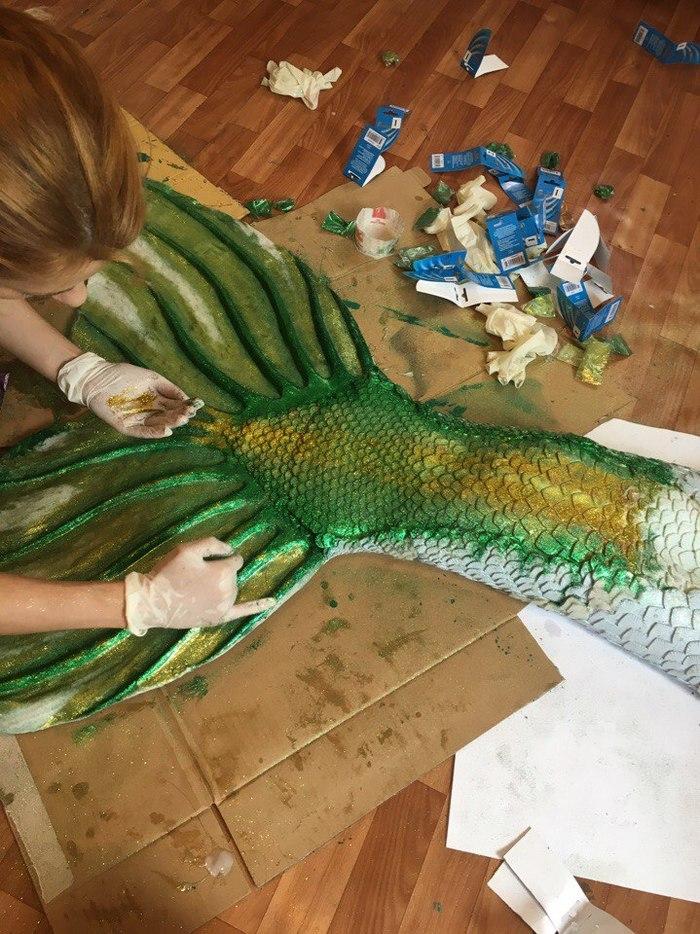 Как сделать силиконовый хвост русалки (для плавания) русалка, Туториал, своими руками, хвост, Косплей, силикон, крафт, длиннопост