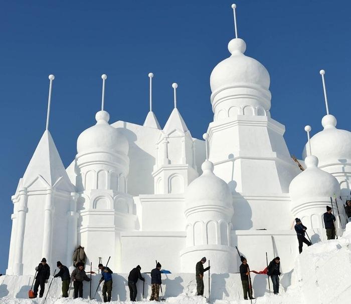 Харбинский фестиваль льда и снега харбин, Китай, Снег, скульптура, фестиваль, длиннопост