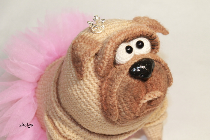 Принцесса. Мопс, Игрушки, Вязание
