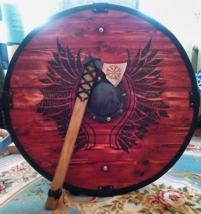 Щит викинга своими руками Щит, Викинги, Своими руками, Рукоделие с процессом, Длиннопост