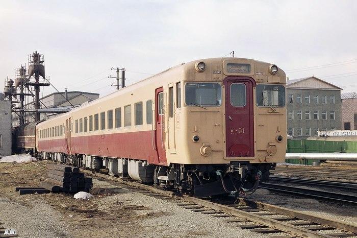 Японский дизель-поезд Киха-58 для колеи 1067 мм в Южно-Сахалинске, у нас его назвали К-01 Железная Дорога, Россия-Япония, Япония, Длиннопост