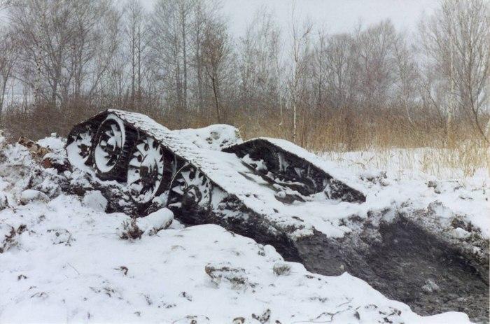 ПОДЬЕМ ТАНКА ОТ-34 ИЗ ЧЕРНОГО ОЗЕРА Великая Отечественная война, Находка, Озеро, Длиннопост