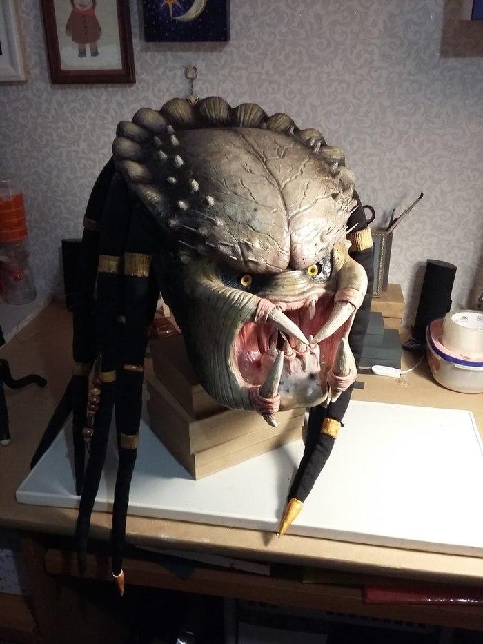 Маска Хищника predator, pepakura, маска, Косплей, eliz ku, handmade, длиннопост