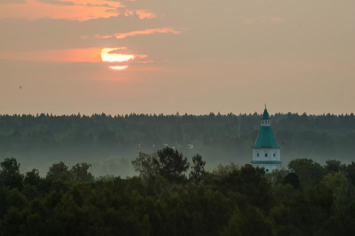 Утро седое, утро туманное Туман, Утро, Рассвет, Новоиерусалимский монастырь, Истра, Nikon D70, Nikon d7100, Длиннопост