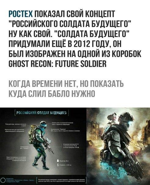 Солдат будущего Ростех, Плагиат, Солдаты