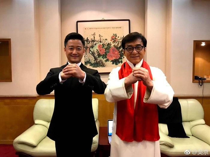 Джеки Чан и Джеки Ву поздравляют всех с Китайским Новым Годом! Джеки Чан, Джеки Ву, Фотография, Китайский Новый год, Праздник весны