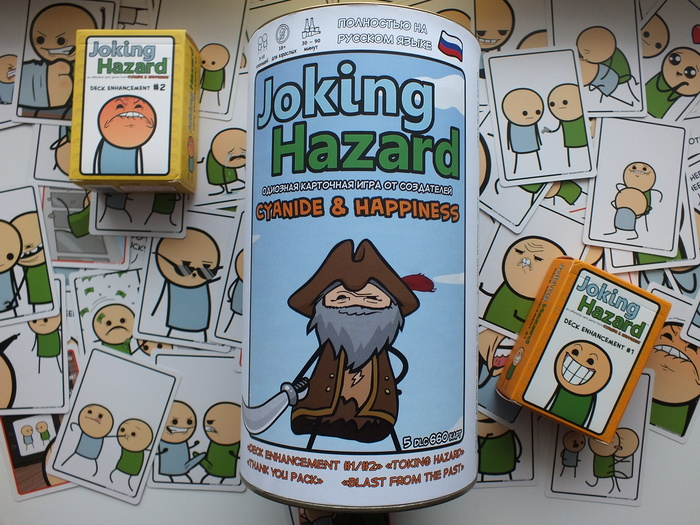 """Подарок любителям чернухи. """"Joking Hazard: Deck enhancement #2"""" Своими руками, Настольные игры, Подарок, Длиннопост, Cyanide and happiness, Joking Hazard, 2018"""