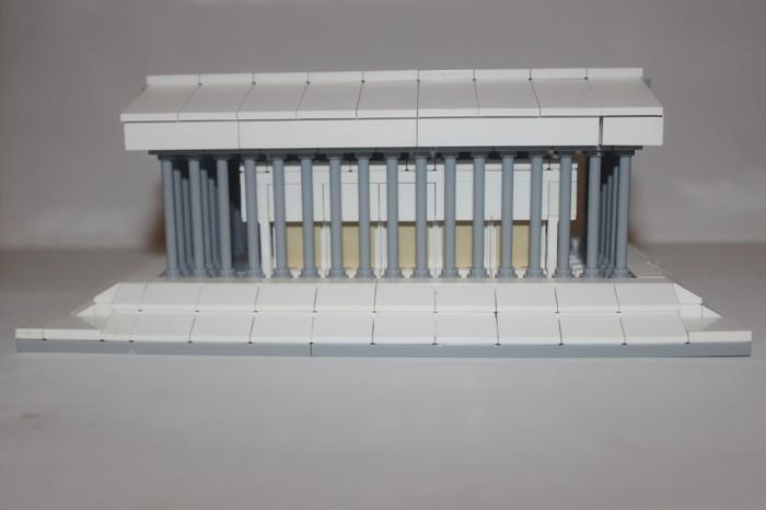 Lego Парфенон в миниатюре Lego, Парфенон, Греция, Миниатюра, Длиннопост