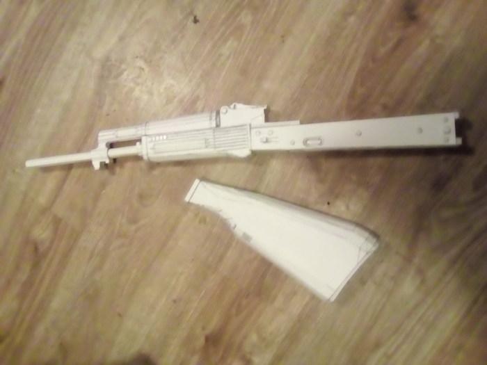 АК 74М из бумаги. papercraft, хобби, модель, АК-74, 1:1, длиннопост