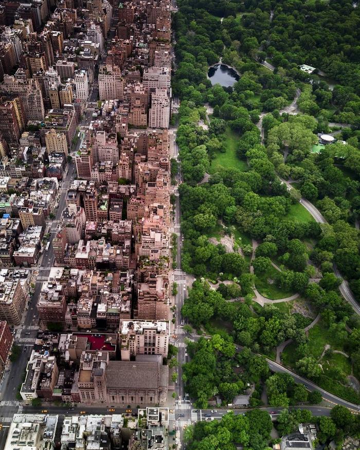 Central Park Фотография, Квадрокоптер, США, Нью-Йорк, Центральный парк