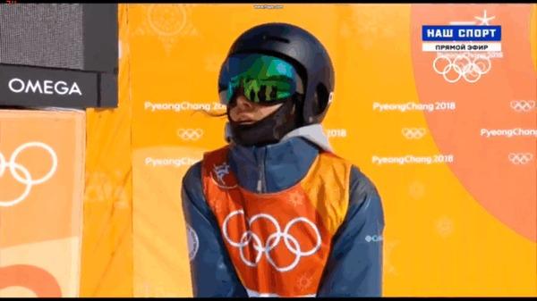 Поздравляем пикабушницу Валерию Демидову с отличным результатом! олимпиада 2018, фристайл, гифка