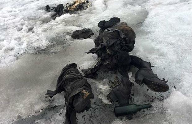 Жуткие вещи, найденные во льдах Мумия, находка, жесть, лёд, видео, длиннопост