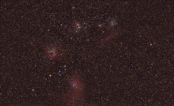 Туманности в Возничем Астрономия, Космос, Созвездия, Туманность, Астрофото