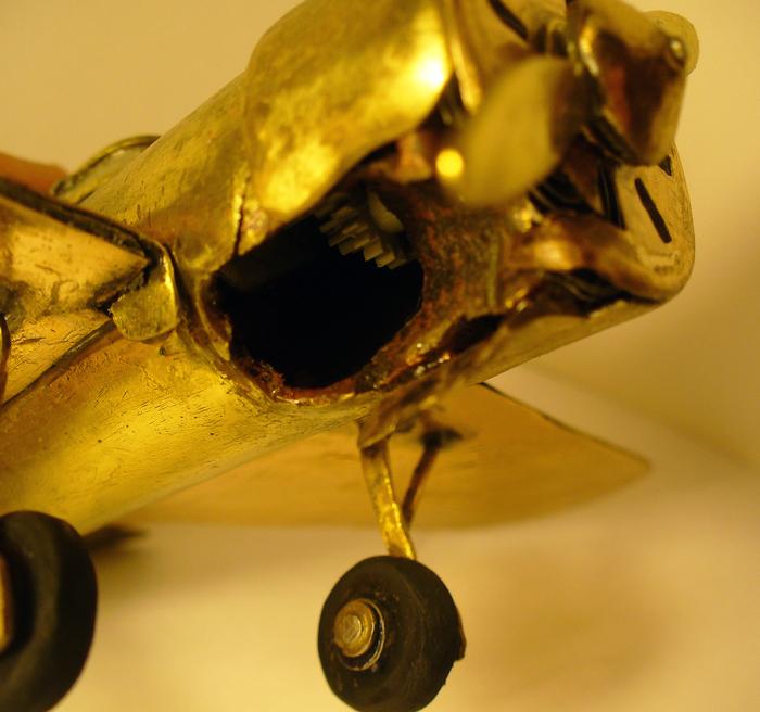 Латунный самолет Самолет, Поиск, Окопное творчество, Латунь, Длиннопост