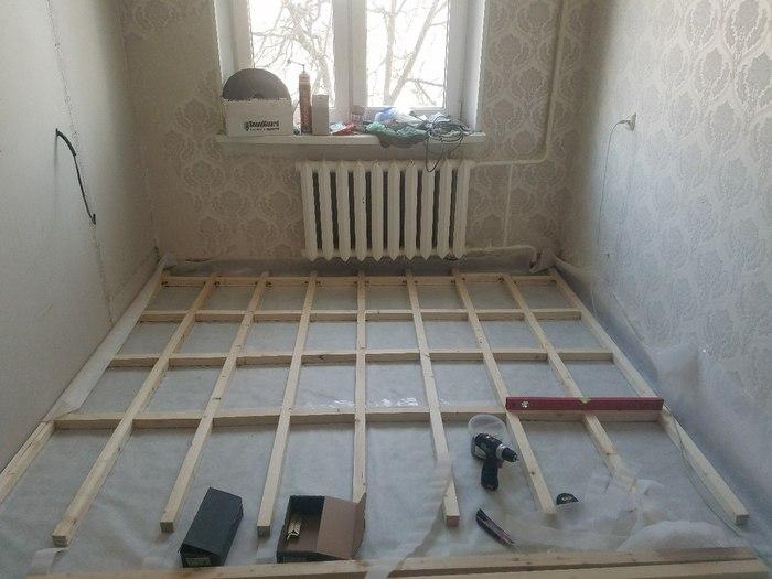 Ремонт в хрущевке своими руками (часть5: пол) ремонт, хрущевка, своими руками, шумоизоляция квартиры, панелька, длиннопост