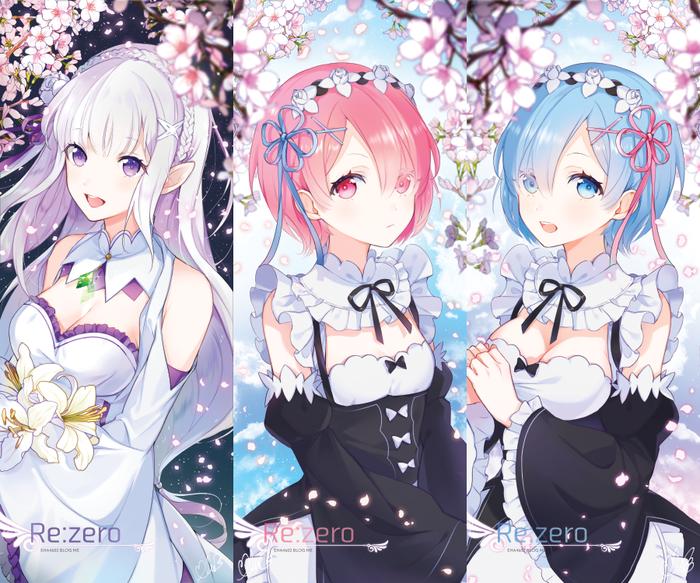 Rem, Ram and Emilia [re:zero]