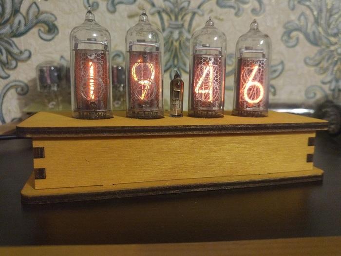 """UPD: Часы Nixie clock на 4 ИН-14 """"Элиза"""" - теперь в корпусе Никси, Ламповые часы, Diy lamp, Nixie clock, Длиннопост"""