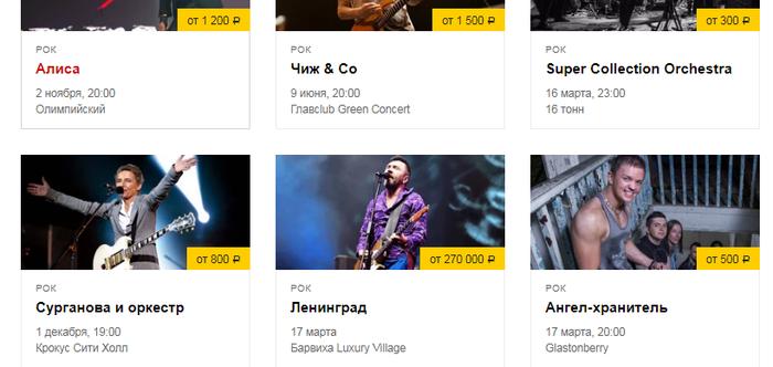 Билеты на Guns N' Roses или Metallica дорогие... Ленинград, Концерт, Теги явно не мое, Цены, Конкуренция