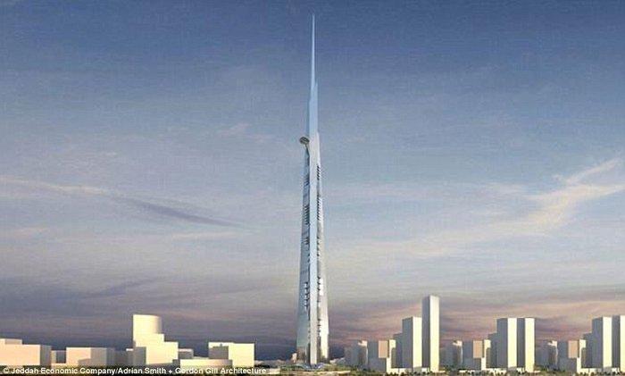 В Саудовской Аравии строится самое высокое здание в мире Архитектура, Здание, Небоскреб, Рекорд, Саудовская Аравия, Стоительство дома, Строительство, Фотография, Длиннопост