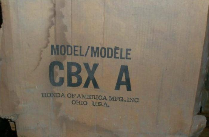 Капсула времени — новый байк Honda CBX из прошлого века! Honda cbx, Находка, 40 лет провел в коробке, Капсула времени, Длиннопост